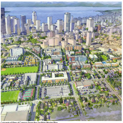 Artist rendition of Seattle U, 2028 (Image: Seattle University)