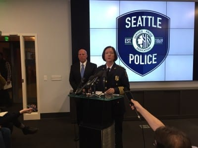 Chief Kathleen O'Toole announced the murder arrest Monday evening. (Image: CHS)
