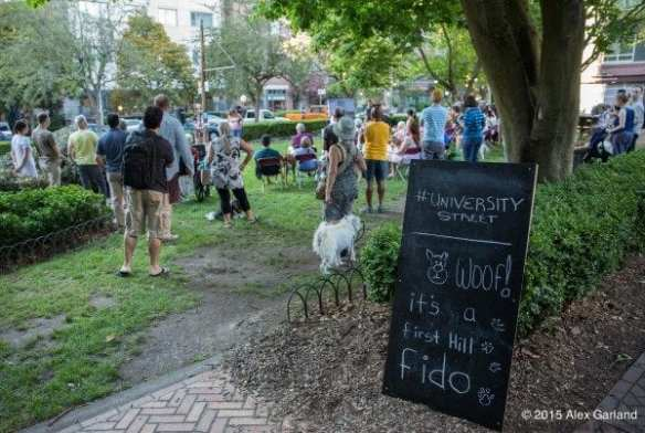 Last August, First Hill Park hosted a party for the neighborhood's dogs (Image: CHS)