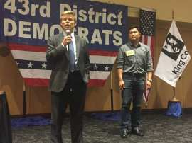 State Sen. Jaime Pedersen spoke in support of Dan Shih.