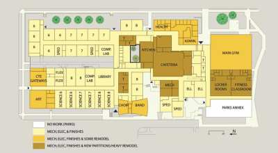 Diagram of planned renovations
