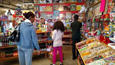 Patrons shop in Rocket Fizz
