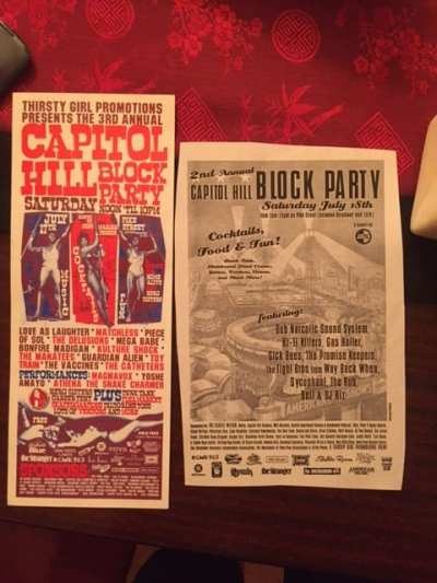 Old Block Party flyers courtesy Gapay