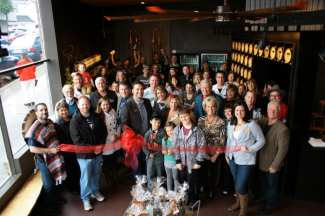 The HDC crew at the opening of their Gig Harbor tasting room (Image: Heritage Distilling Company)