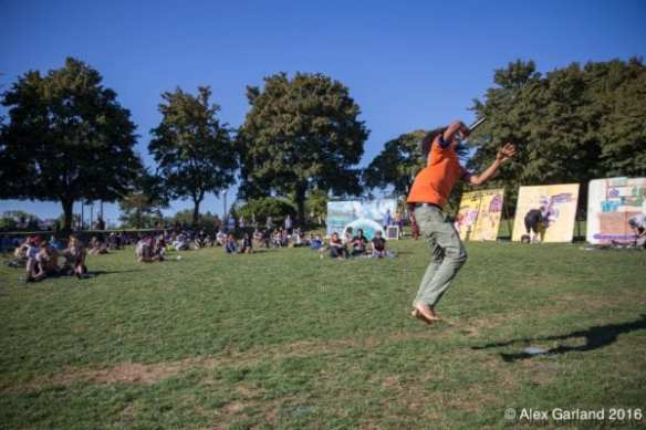 Zen Seizure gets off the ground in his set at Sunday's Park Jam