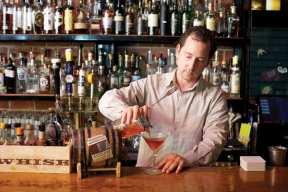 Friedman crafting a craft cocktail (Image: Liberty)