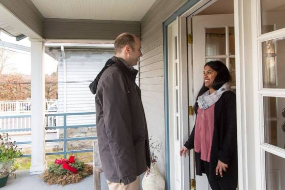Marcus Courtney door knocking during the campaign. (Image: Marcus Courtney)