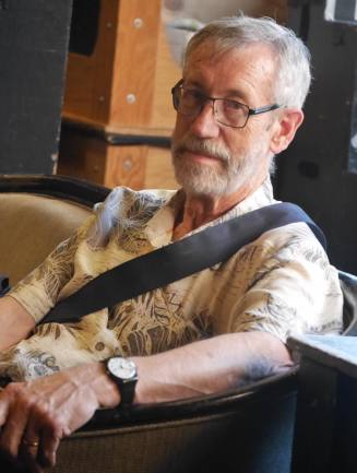 Max Richards at a playwriting class one week before he died. (Image: Marilyn Black)