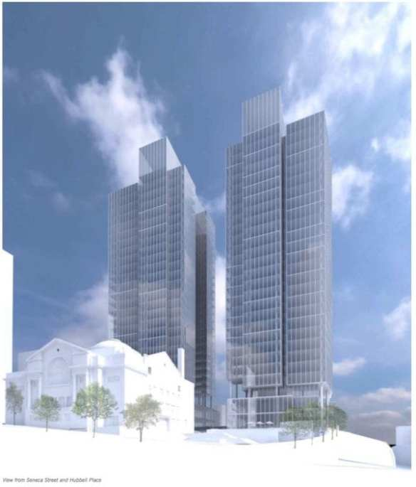 What the proposed Town Hall apartment towers will look like