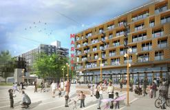 A preview design rendering from master developer Gerding Edlen's proposal to lead the project