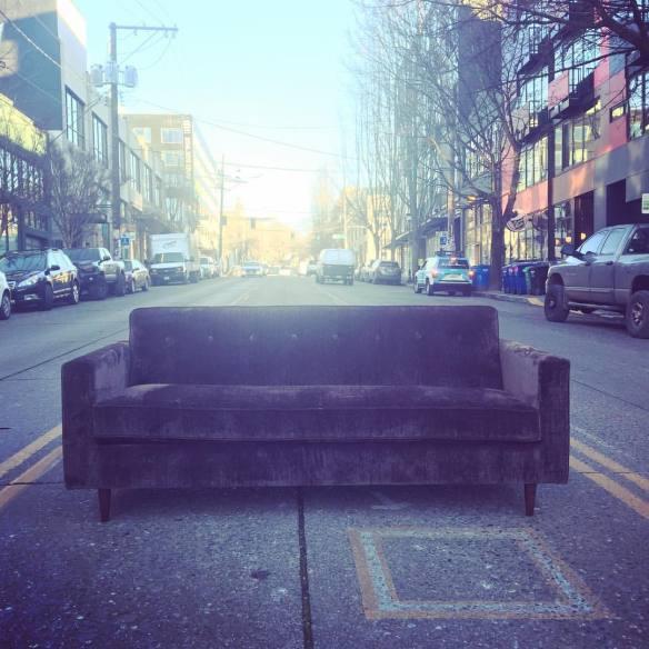 A new Retrofit sofa takes a rest on the mostly construction-free E Pike (Image: Retrofit Home)