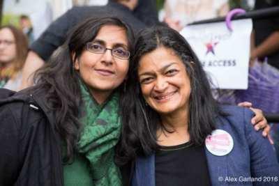 Kshama Sawant, left, and Pramila Jayapal