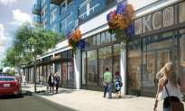 Renderings of the original retail concept for the building showed a series of separate strefronts
