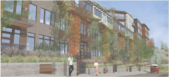 Will these proposed townhouse-style units be enough for Dewey Pl E?