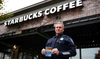 Seattle Police LGBTQ liaison officer Jim Ritter (Image: Starbucks)