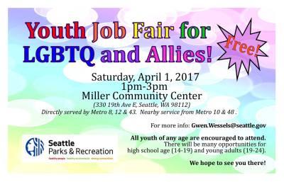 LGBTQ and Allies Teen/Youth Job Fair 2017