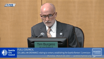 Council member Tim Burgess