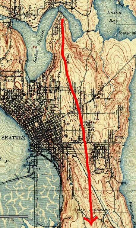 1894 Seattle Topographic map