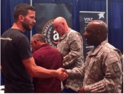 Amazon recruiters and jobseekers at a VHSL-sponsored Veterans Career Expo at the Convention Center in July 2016 (Image: King County)