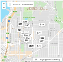 Recent Airbnb listings for Capitol Hill