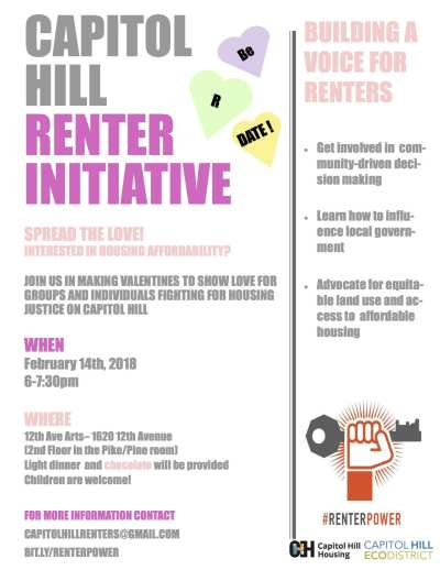 Capitol Hill Renters Initiative - General Meeting @ 12th Avenue Arts