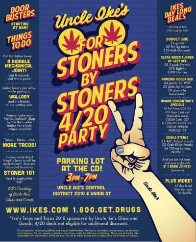 Uncle Ike's Glass and Goods Presents: For Stoners by Stoners 4/20 Party! @ Uncle Ike's