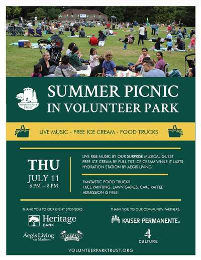 Summer Picnic in Volunteer Park @ Volunteer Park