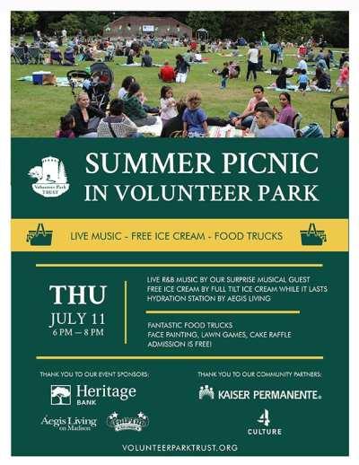 Summer Picnic in Volunteer Park @ Volunteer Park