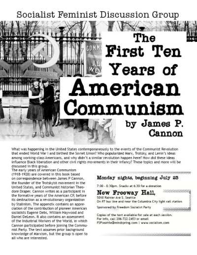 """First Ten Years of American Communism"" Discussion Group @ New Freeway Hall"