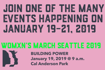 Seattle Women's March 2019 -- UPDATE @ Cal Anderson Park