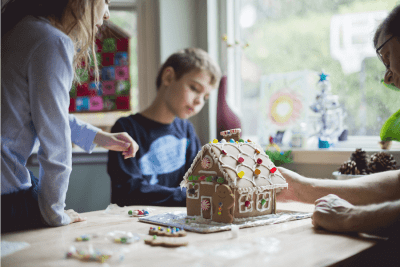Do you want to build a Gingerbread House? @ The Lounge by AT&T