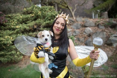 Lena and Ralphie as Queen Bee and Baby Bee