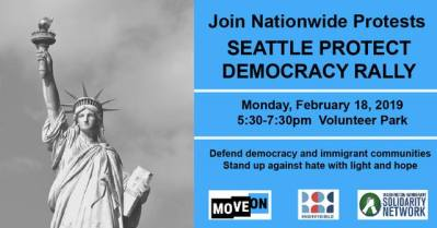 Seattle Protect Democracy Rally @ Volunteer Park