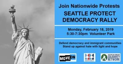 Seattle Protect Democracy Rally @ Volunteer Park