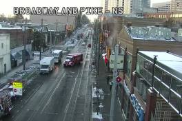 Could be worse: Here are Tuesday morning views of E Pike and Broadway from the CHS Traffic Cams page. Side streets, meanwhile, remain very messy.