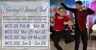 Seattle Swing Dance Club Presents NEW West Coast Swing Classes! @ Russian Community Center