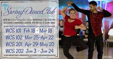 Seattle Swing Dance Club Presents NEW West Coast Swing Classes! @ Russian Community Center