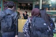 Natasha Morton explains the menu to new customers.
