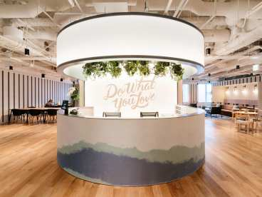 An office bar in Ark Hills South, Tokyo (Image: WeWork)