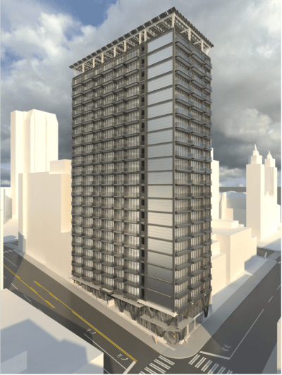 A rendering of the planned 901 Madison high-rise