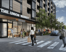 Rendering of the East Union building's retail space