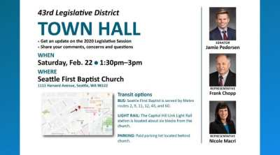 43rd Legislative District Town Hall @ Seattle First Baptist Church