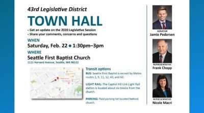 43rd Legislative District Town Hall @ Seattle First Baptist Church
