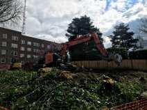 The Sullivan House demolition site (Image: CHS)