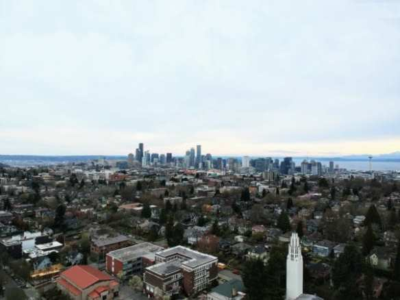 A view of Seattle during the COVID-19 crisis
