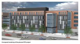 Rendering of the future ITEC project on Broadway