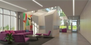 A rendering of Ander's lobby