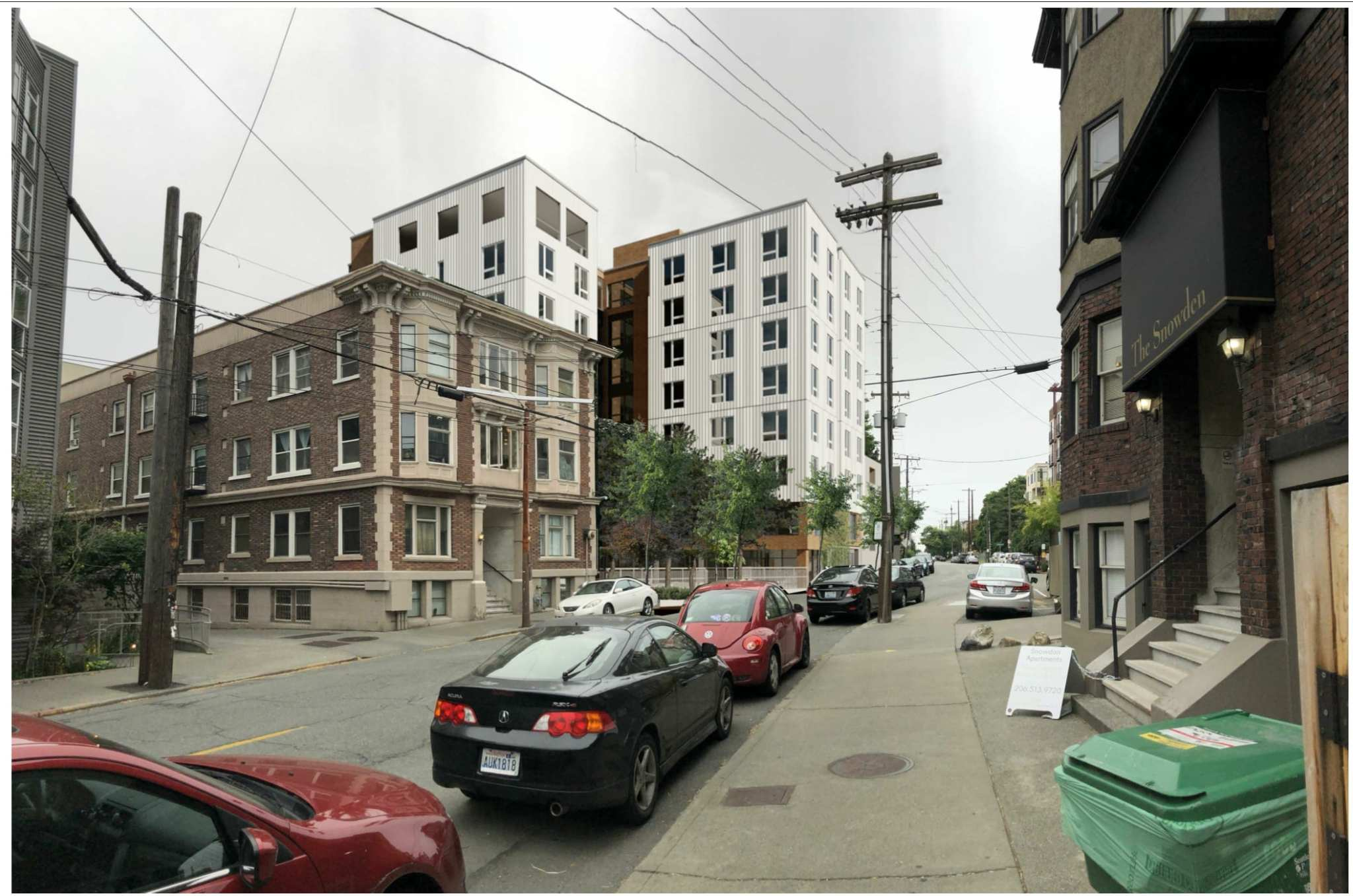 Surrounded by taller buildings with room for more people on all sides, two 1906-built houses set to finally make way for development on Bellevue Ave E