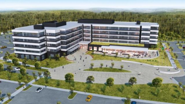 The FAA Northwest Mountain Regional Headquarters will be built in Des Moines, WA by Panattoni Development Corp. (Rendering: CollinsWoerman Architects)