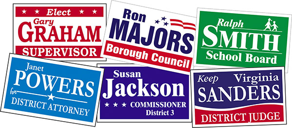 political yard signs double